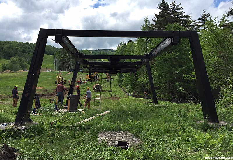 Mount Snow Removes Ski Baba Chairlift