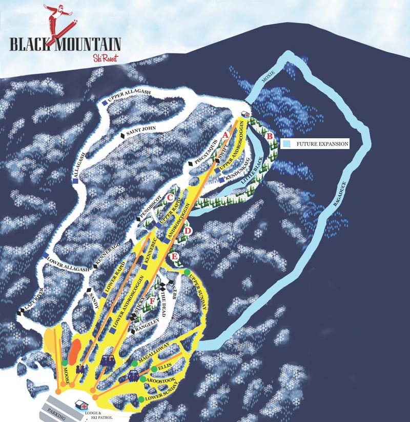 The 2015-16 Black Mountain Trail Map