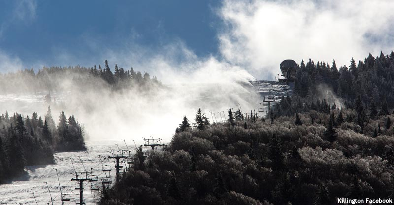 October Superstar Snowmaking at Killington