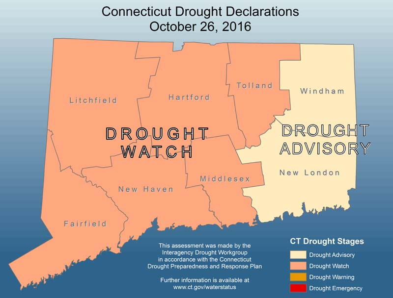 Connecticut Drought Watch Map