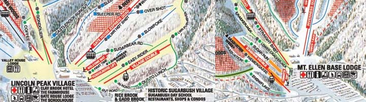 Sugarbush trail map