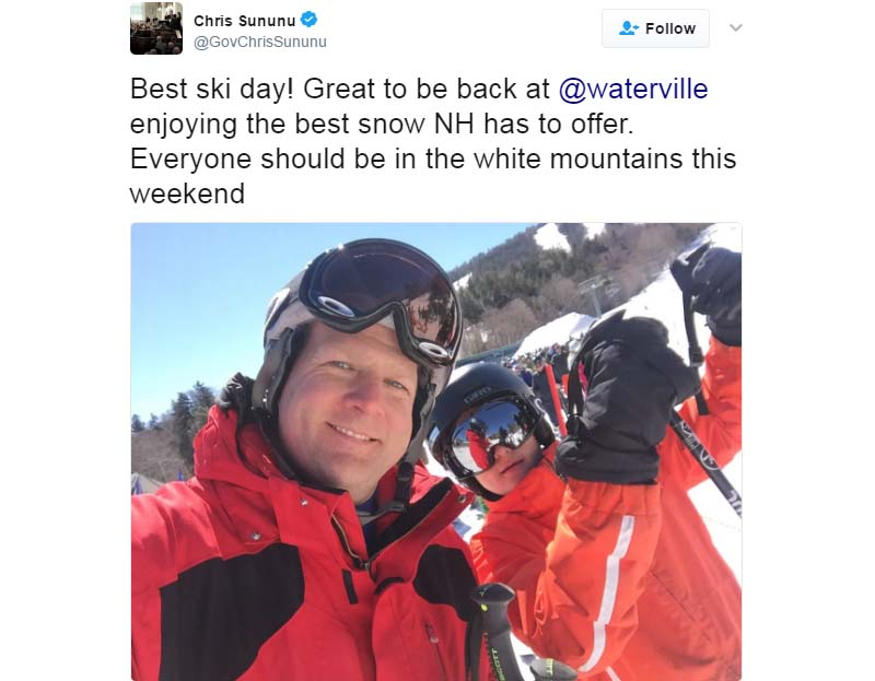 Gov. Chris Sununu's March 18 Tweet