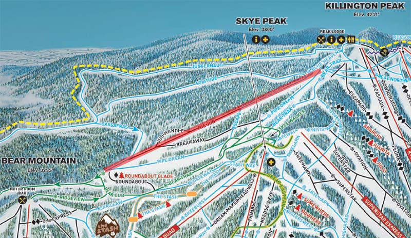Killington Trail Map