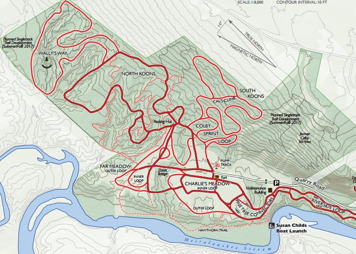 Quarry Road Recreation Area Map