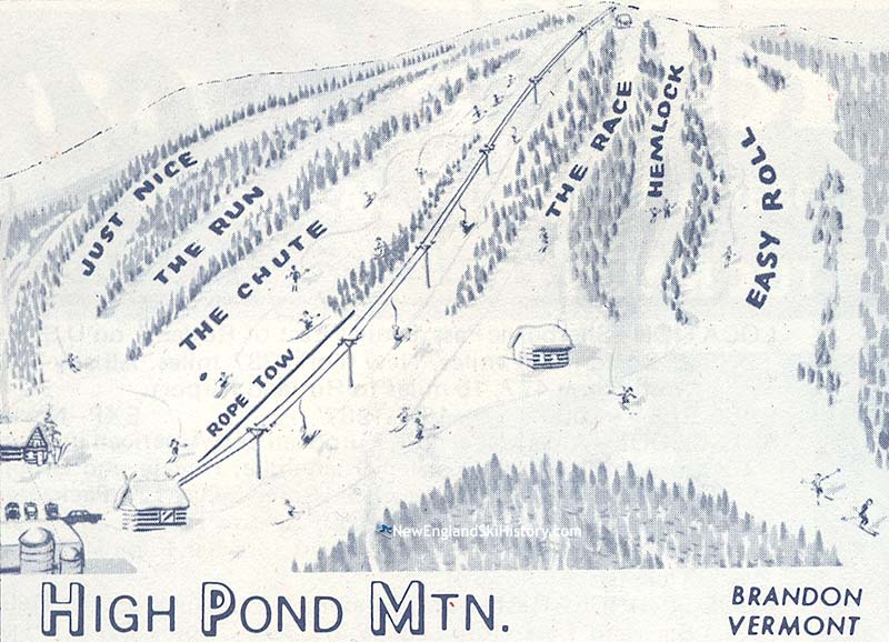 High Pond 1970 Trail Map