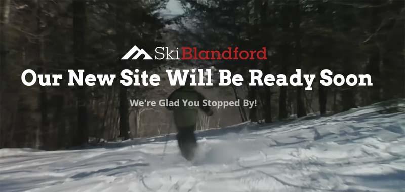 Ski Blandford web site, 10/25/2017