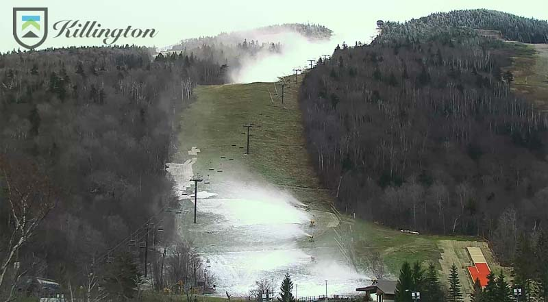 Killington snowmaking, 11/7/2017