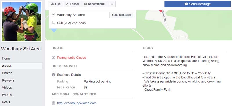 Woodbury Ski Area Facebook