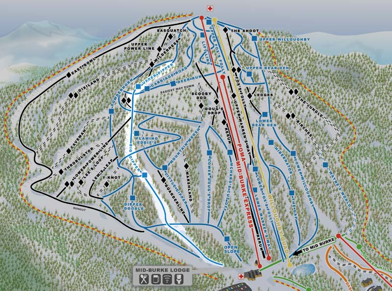 Burke Mountain Trail Map