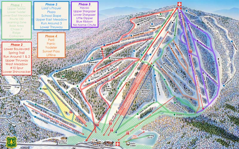 Bromley snowmaking map