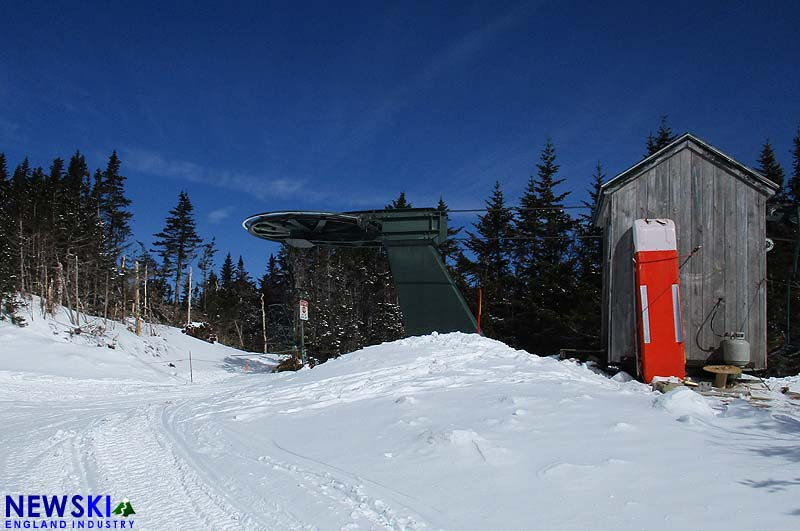 High Country top terminal and trail from T-Bar line (background)