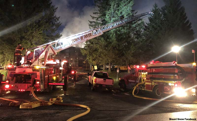 Fire at Mount Snow Mountain Operations Building