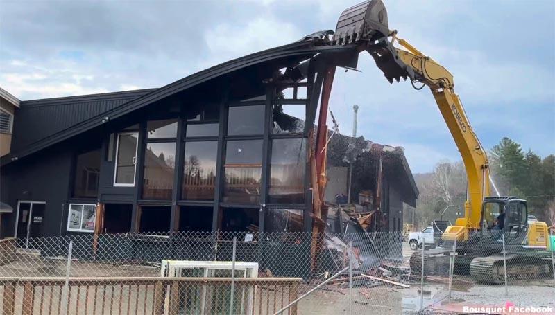 Demolition of the Bousquet Lodge