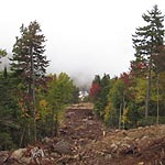 Initial Lift Construction Work Continues at Waterville Valley