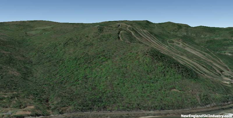 A May 2014 Google Earth rendering of the North Face of Berkshire East