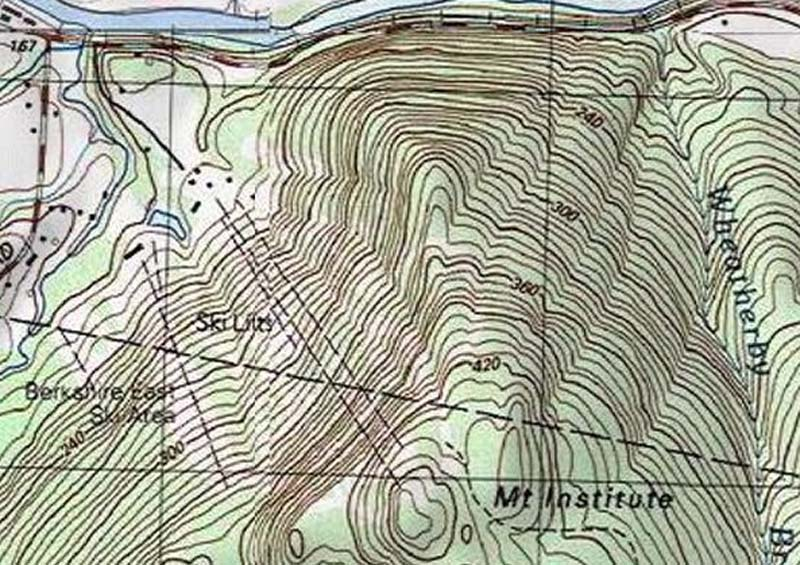 The USGS topographic map of Berkshire East