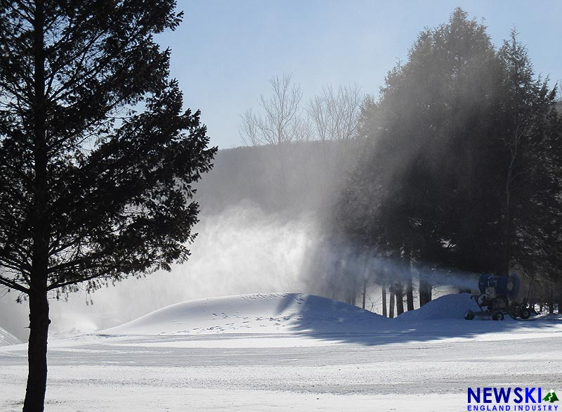 Tenney Mountain snowmaking, February 27, 2016
