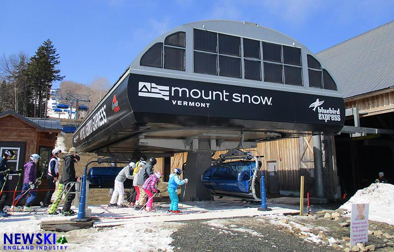 Mount Snow's Bluebird Express, March 27, 2016