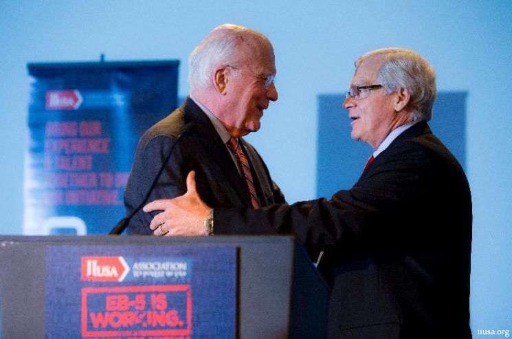 Senator Patrick Leahy and Bill Stenger