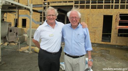 Bill Stenger and Bernie Sanders