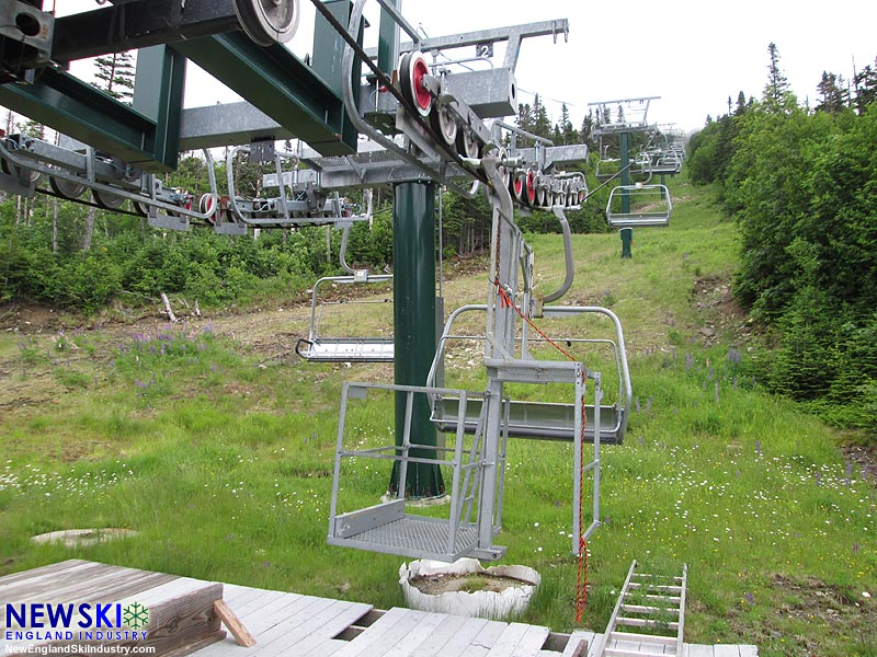 The Kennebago Quad Chairlift (July 2016)